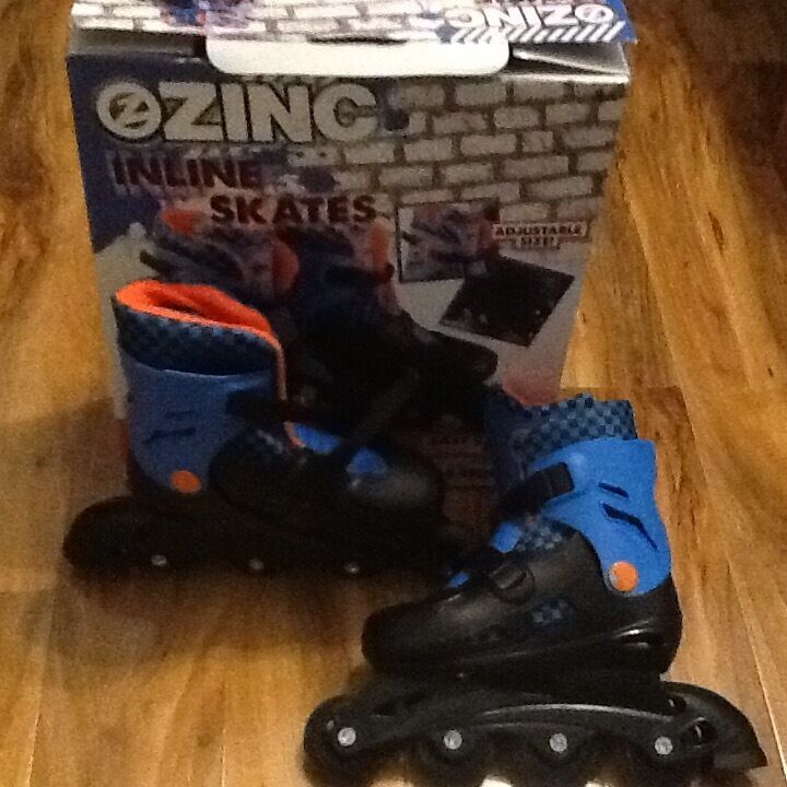 ZINK Inline Skatesin Knightswood, GlasgowGumtree - ZINK inline skates size 13 3 my son tried twice but just didnt have the co ordination. Remember you need to buy a size bigger. Available for £8.00. Must collect