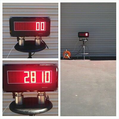Scale Indicator Scoreboard - Super Bright Display - 3 Tall Led Digits - Ntep