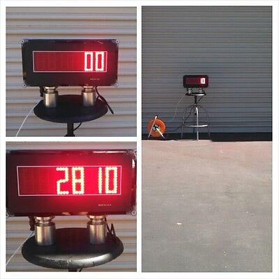 Scale Indicator Scoreboard - Super Bright Display - 3 Tall Led Digits - Ntep