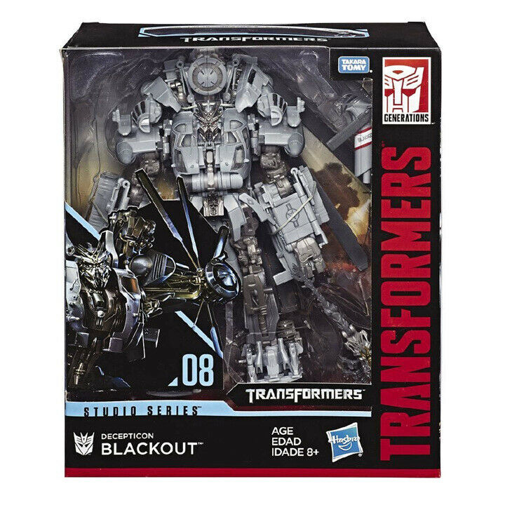 Transformers Hasbro Blackout Studio Series 08 Leader Level Action Figure In Box