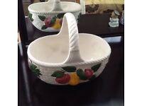 Pottery fruit basket