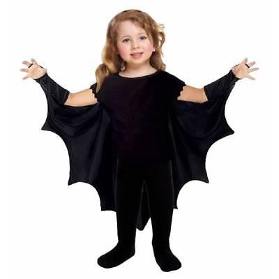 Kleinkind Kinder Schwarz Vampir Fledermaus Wings Umhang Jungen Mädchen - Vampir Mädchen Kleinkind Kostüm