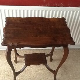 Solid dark wood Decorative table