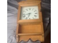 Pine battery operated clock