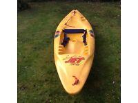 Pryranaha Surfjet 305 sit on Kayak bright yellow