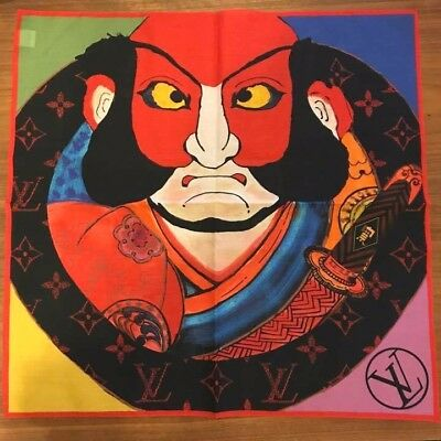 LOUIS VUITTON LV Bandana Scarf Cotton 100% Kabuki JP POP UP Store L/d New 25