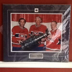 Signed Rocket Richard, Jean Belliveau and Guy Lafleur