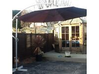 large Garden Wind up Parasol