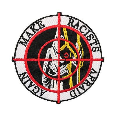 MAKE RACISTS AFRAID AGAIN Embroidered Patch dump trump punk antifa antiracist