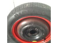 Ford Fiesta/fusion spare tyre 125/80/15