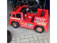 Fire engine electric ride on 6 v