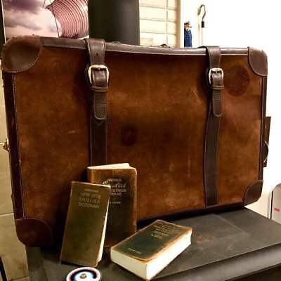 Gucci Old Trunk Suede Vintage Rare Travel Bag From JAPAN Free shipping