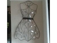 Metal wall art dress