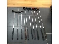 Offers considered for weekend sale Job lot of golf items: woods, irons, bags, umbrellas - see photos