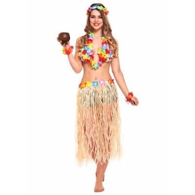Hawaii Mädchen Satz 6 -teiliges Set Hula Lei Rock Kostüm Tropischen (Hawaii Mädchen Kostüm)