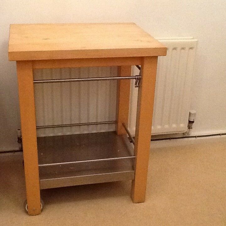 Pine Butchers Block/Trolley