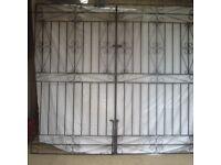 Wrought iron style driveway gates