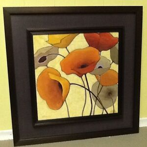 """""""Poppies"""" contemporary wall art"""