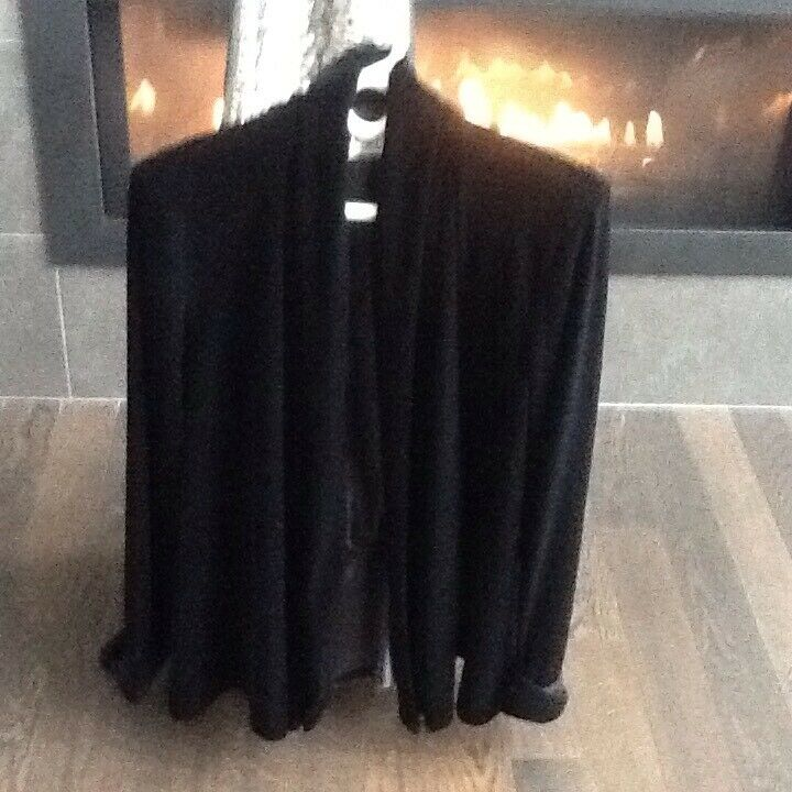 Vintage Swing Evening Jacket Black Velvet J. R Nites By Caliendo Sz Med/large