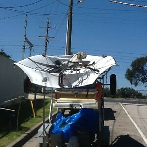 29 R  SKIFF  and Trailer , Won 2nd in Worlds . Mordialloc Kingston Area Preview