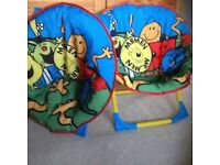 Mr Men Moon chairs.