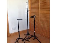 Symphony Microphone Stand, Stagg guitar Stand, plus One-Stage Stand