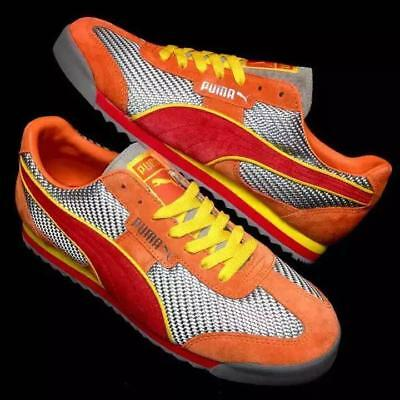 PUMA TEDO MS SNEAKERS SHOES MEN US9 27CM NEW IN BOX SILVER ORANGE YELLOW RARE