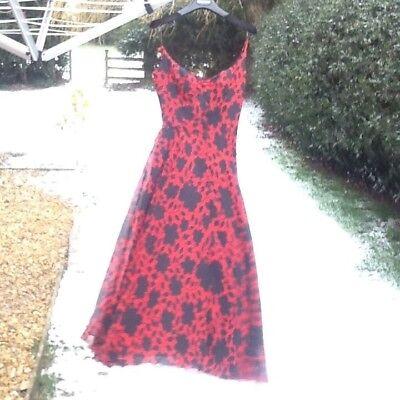 Ladies Katharine Hamnett London Black and red Dress size 42
