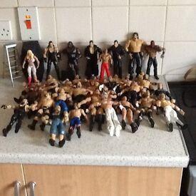 Bundle of 35 wrestling figures