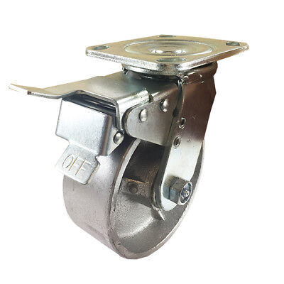 5 X 2 Steel Wheel Caster - Swivel With Total Lock Brake