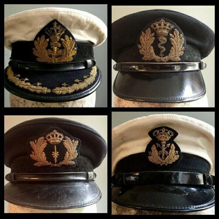 Ww2 Dutch Navy Visor Caps Replica ship in ten days all sizes  available