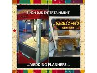 UNLIMITED POPCORN MACHINE & NACHOS - ASIAN WEDDINGS - PACKAGES: DHOL/ DJ - IDEAL FOR ANY OCCASION