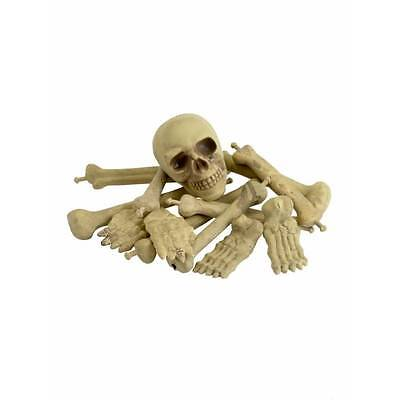 Smiffy's Bag of Bones Skull Graveyard Skeleton Set Halloween Horror Decoration