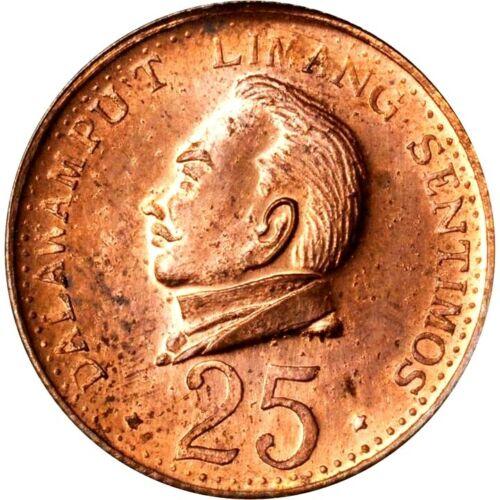 1967 Philippines Juan Luna Copper 25 Sentimos Private Pattern, PCGS MS 64 RB