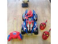 Spider Man Quad and Walkie Talkies.