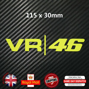 Valentino Rossi VR 46 Moto GP Decal Sticker Fluorescent Yellow Vinyl 115mm F176