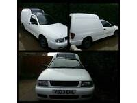Vw caddy with rear seats