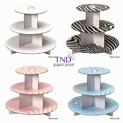Cupcake Cardboard Stand (3 TIER CARDBOARD CUPCAKE STAND HOLDER TOWER WEDDING BABY SHOWER BIRTHDAY)