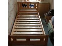FREE: IKEA KRITTER first bed with a John Lewis cot bed mattress in sound condition.