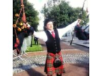 Highland bagpiper/ Irish pipes available for any events!