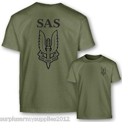 Jungen Britische Armee SAS T-Shirt 5-6 7-8 9-10 12-13 Baumwolltop Soldat - Britische Kostüm Kinder