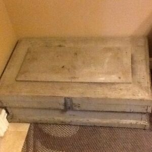 Reduced Solid wood antique tool box