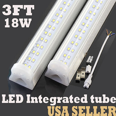 LED T8 3FT 18W LED Integrated TUBE LIGHT 6000k best replace 60w With