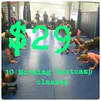 Morning Boot camp ONLY $29 for 10 Classes