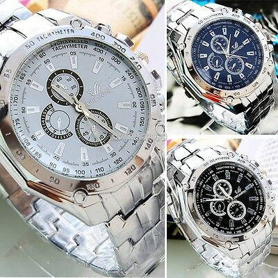 Men's Fashion Luxury Watch Stainless Steel Analog Quartz Sport Mens Wristwatches