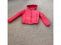 childs red bomber coat