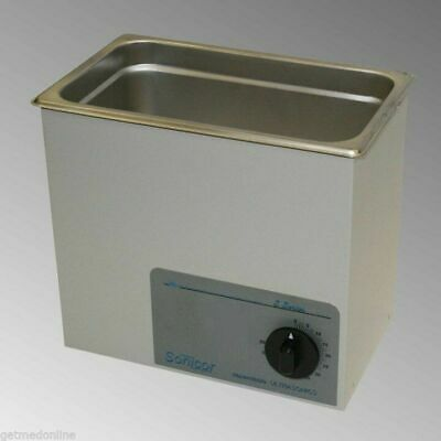 New Sonicor Stainless Steel Tabletop Ultrasonic Cleaner 1 Gal Capacity S-101t
