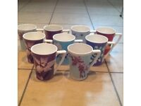 Set of 9 beautiful Portmeirion fine china cups