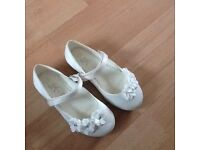 Flower girl / confirmation shoes sizes 10 and 8 never worn