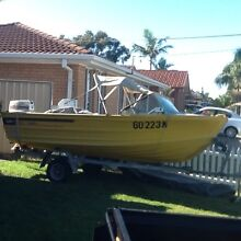 4.0 Quintrex boat with 25 hp Johnson Blue Haven Wyong Area Preview
